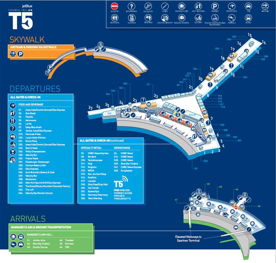 Jfk Terminal 5 Map ✅ TWA Terminal at JFK airport   Data, Photos & Plans