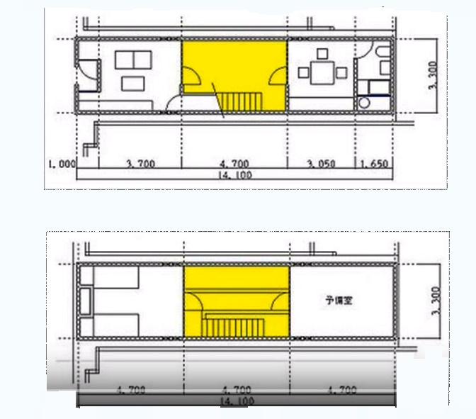 Azuma medidas wikiarquitectura for Row house dimensions