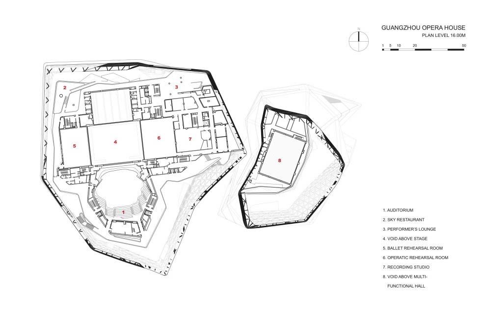 Guangzhou Opera House Data Photos Plans Wikiarquitectura