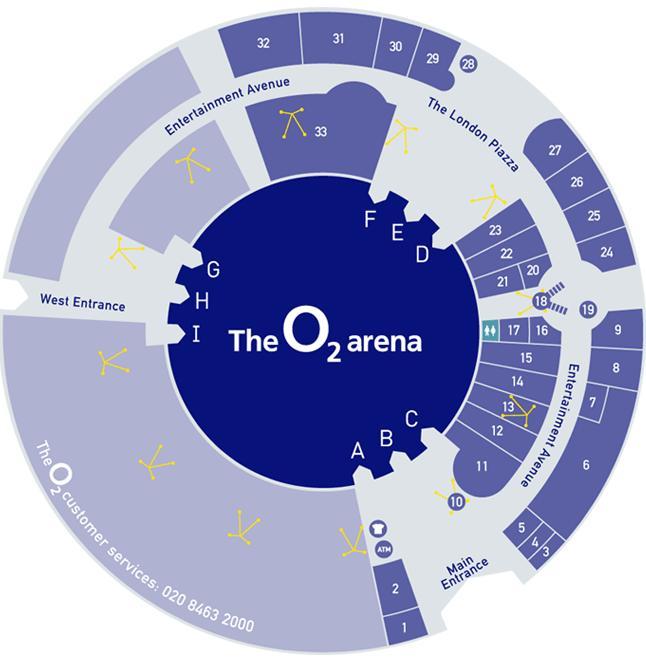 Millennium dome o2 arena data photos plans for 02 arena london floor plan