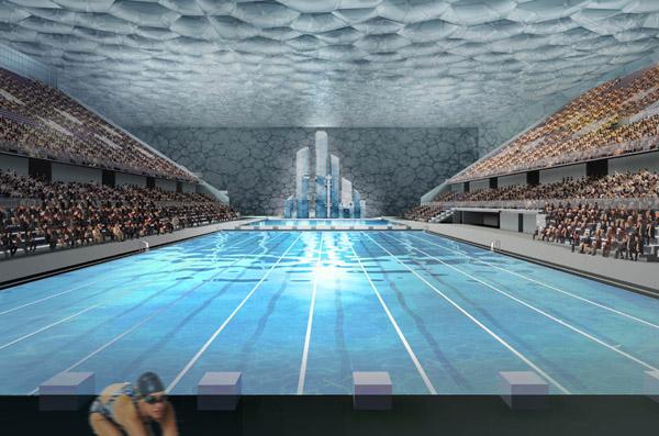 Beijing National Aquatics Center Data Photos Amp Plans