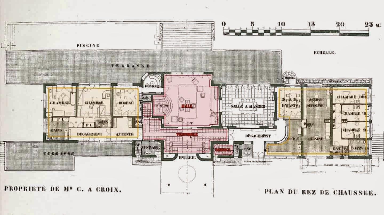 villa cavrois planta wikiarquitectura. Black Bedroom Furniture Sets. Home Design Ideas